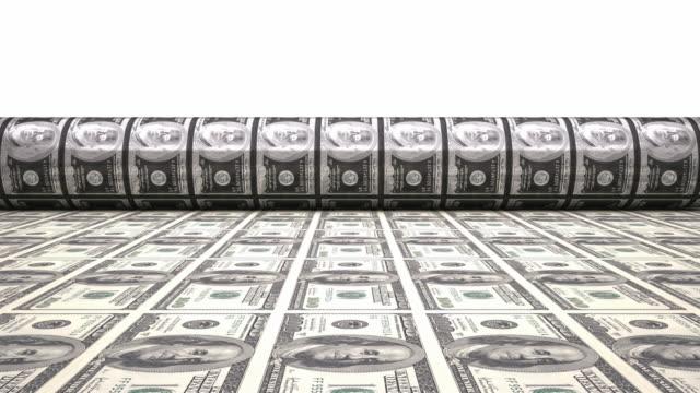 4K Printing Dollar Bills | Loopable
