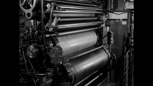 MS Printing machine in factory / United States