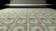 Printing sheets of one hundred dollar bills