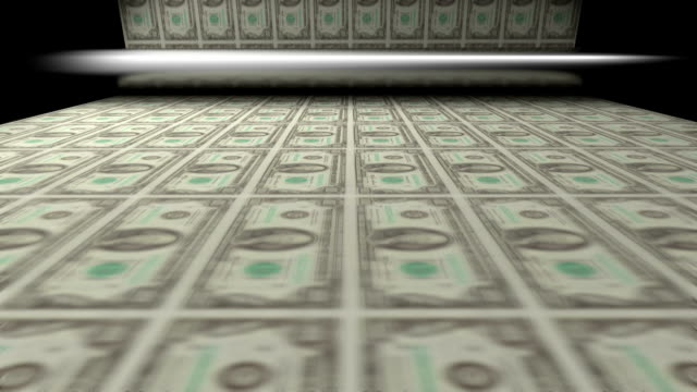 Drucken Bettwäsche von Hundert-dollar-Noten in der Hand