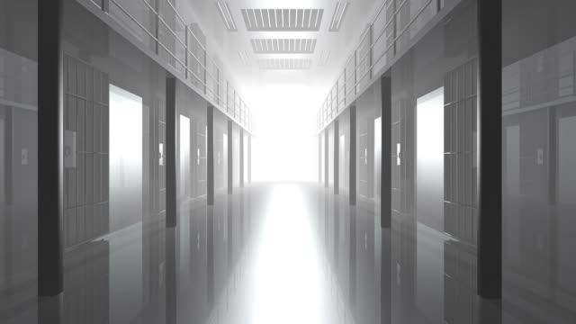 Prison Cell Door Closing Digital Render