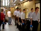 Prison officers suspend their right to work rule which prompted riots and arson in several prisons R Bedfordshire Bedford Bedford Prison Legs of...