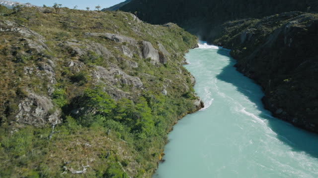 Pristine Patagonian River And Lake