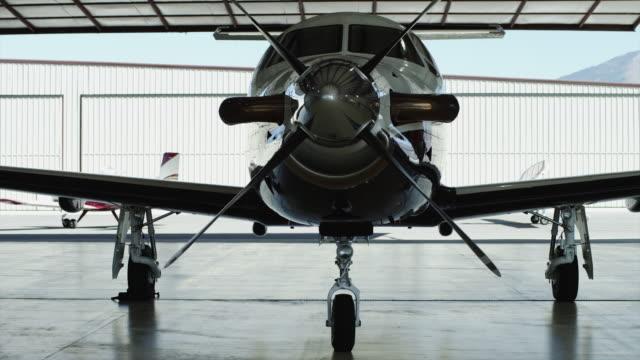 MS PAN Private airplane in hangar / Spanish Fork, Utah, USA