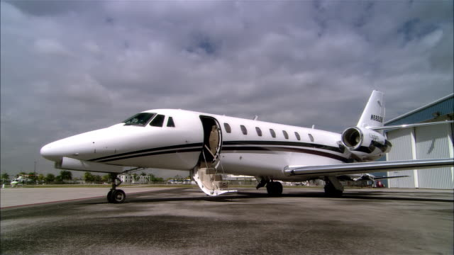 WS DS PAN Private jet parking outside hangar at Opa Locka Airport / Miami, Florida, USA
