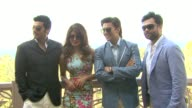 Priyanka Chopra Ranveer Singh Arjun Kapoor and Ali Abbas Zafar 'Gunday' Press Junket 10th Annual Dubai International Film Festival at Madinat...
