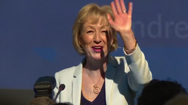 Pro Brexit leadership candidate Andrea Leadsom vows to banish the pessimists in a speech to supporters as Conservative lawmakers choose the final two...