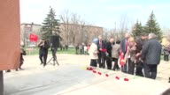 Pro separatist soldiers on Friday attended the unveiling of a Lenin statue in the town of Novoazovsk in eastern Ukraine