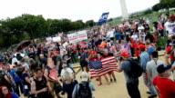 Pro –Trump supporters gathered in support of President Donald Trump during the 'Mother of all Rallies' at the National Mall in Washington D