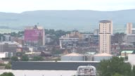 ProBrexit donation at centre of transparent funding row SCOTLAND Glasgow EXT Various shots of Glasgow skyline with hills in distance/ SHOT POVs from...