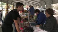 Produce being sold at market in Appalachia