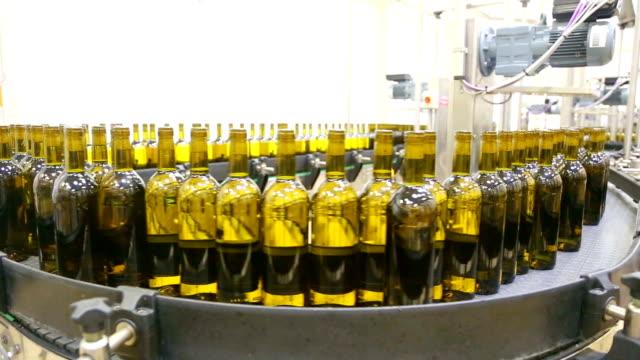 Production line for bottling wine into bottles