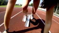 HD: Professional Athlete Hurdling
