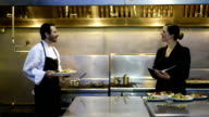 Professional culinary team in a commercial kitchen