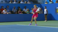 Professional female tennis player Hit A Forehand