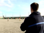 Professional rugby players have taken their game far from cheering crowds in grandstands into prison Seysses HauteGaronne France