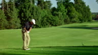 WS Professional Senior Golfer Teeing Off