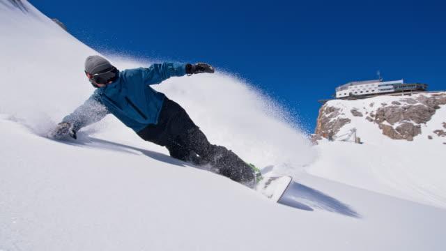 RALLENT professionale snowboard intaglio lungo il pendio