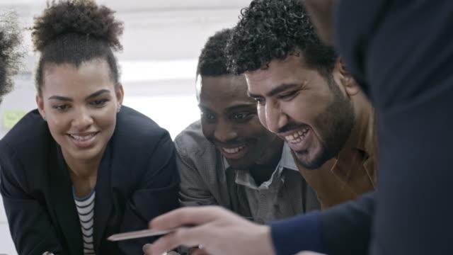 Professional team planning start-up business