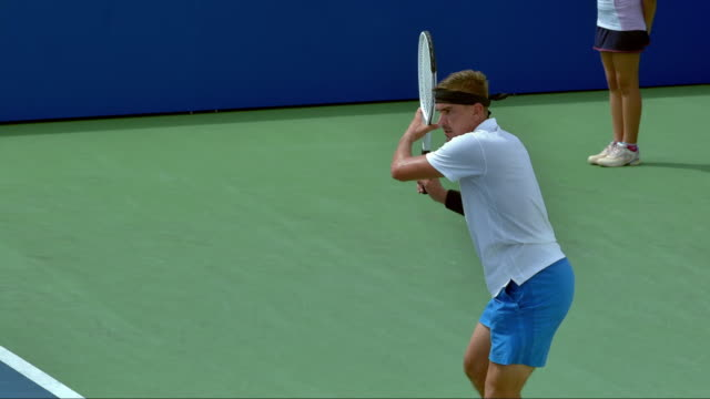 Professional Tennis Player Hit A Forehand
