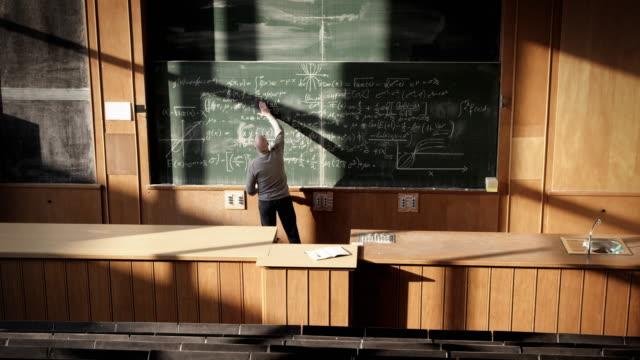 Professor in auditorium