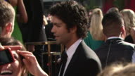 profile MCU ZI CU Adrian Grenier talking to reporters on the red carpet