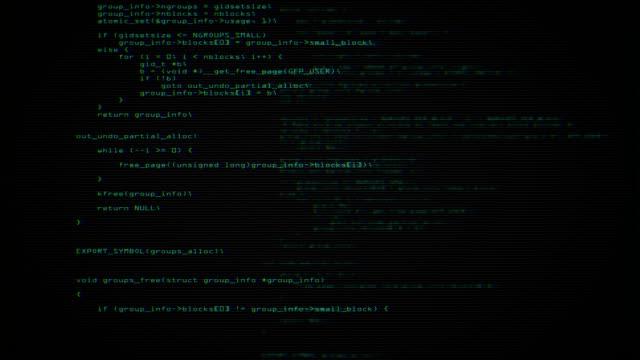 Codice programma schermo