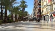 Promenade in Alicante city. Spain