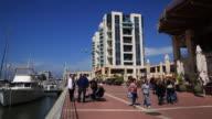 promenade near the yacht harbor