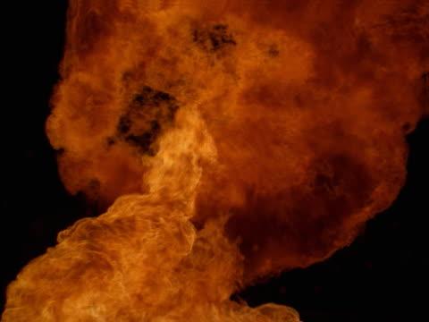 A propane mortar explosion.