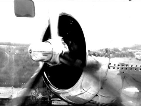 Propeller in oldtimer airplane