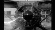 CU Propeller of single prop airplane starting Propeller of airplane starting on April 13 1946