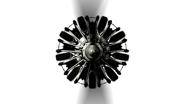 Propeller Plane Radial Engine Start
