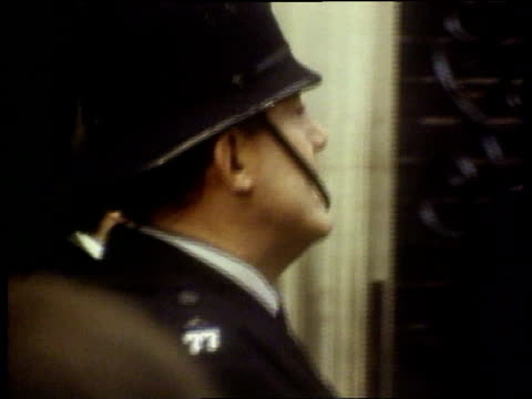 Proportional representation commission ITN LIB HELD AT MILLBANK Jeremy Thorpe along thru crowds to door of No10 poses then enters LIB Sept 1976 WALES...