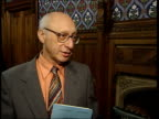 Proposed licence fee increase rejected ITN London Westminster Gerald Kaufman MP interview SOT BBC knew it would be launched into digital age when...