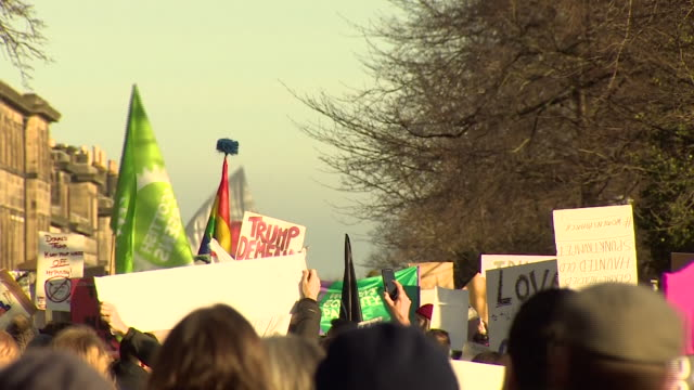 Protesters at an antiDonald Trump 'Women's rights' rally in Edinburgh