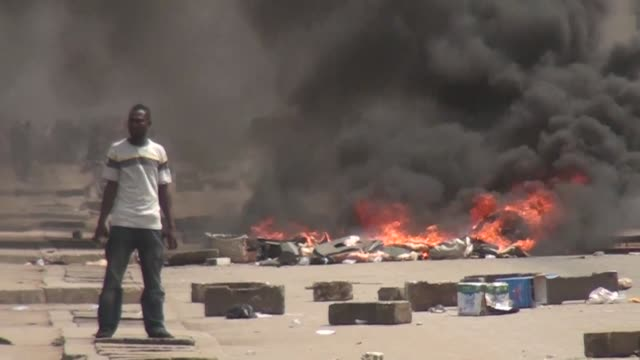 Protesters erect makeshift barricades and blocked roads in Togo's two main cities as soldiers and police launch teargas to prevent the latest anti...