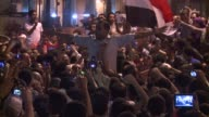 Protesters gather in Tahrir square after Egyptian election officials announce that expremier Ahmad Shafiq will face the Muslim Brotherhood's Mohammed...