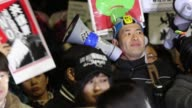 Protesters gathered in front of Tokyo parliament to demonstrate against the policies of Shinzo Abe and to call on the Japanese prime minister to...