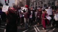 Protesters march from Freedom Plaza to Capitol Hill December 13 Washington DC Thousands of people gather in the nation's capital for the 'Justice For...