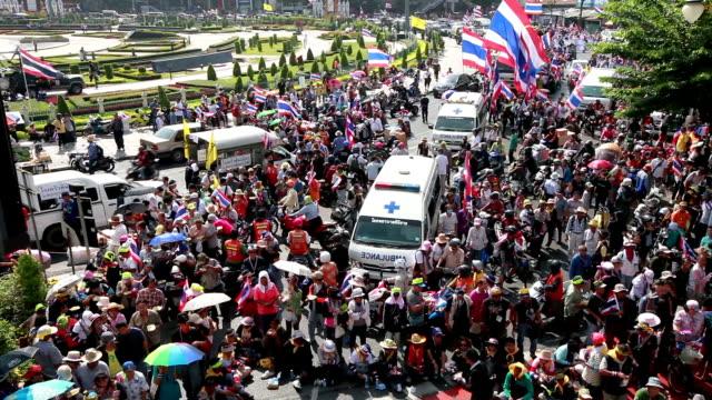 Protesters März bis