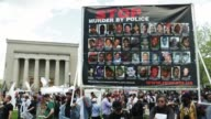 Protesters participate in a rally held by Black Lawyers for Justice at the City Hall Baltimore Maryland May 2 2015 Freddie Gray was arrested for...