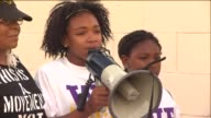 KTLA Protesters rallied in Baldwin Hills following the shooting death of a woman by an LAPD officer