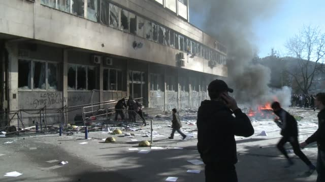 Protesters stormed government buildings in Bosnia on Friday setting them alight and smashing up furniture as anger over the dire state of the economy...