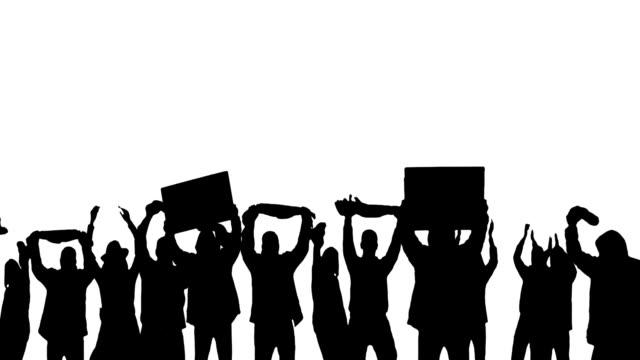 Protestieren Gruppe von Personen