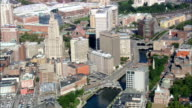 Providence River - Aerial View - Rhode Island, Providence County, United States