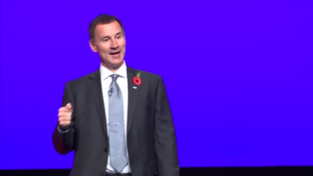 Jeremy Hunt and Simon Stevens speeches ENGLAND West Midlands Birmingham INT Jeremy Hunt MP speech SOT re Difficulty of running a hospital /...