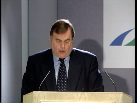 Public inquiry announced ITN London LMS John Prescott MP at press conference podium as relatives and journalists into room Relatives and journalists...