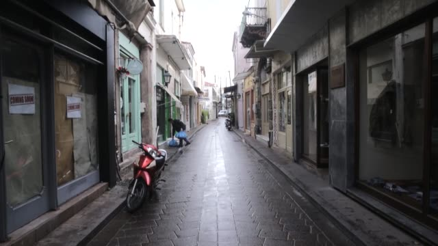 Public institutions suspended services and many shops did not open as a oneday strike in Greece's Lesbos island over the refugee crisis took place on...