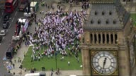 nurses demonstrate in Westminster ENGLAND London Westminster VIEWs / AERIALs nurses demonstrating in Parliament Square